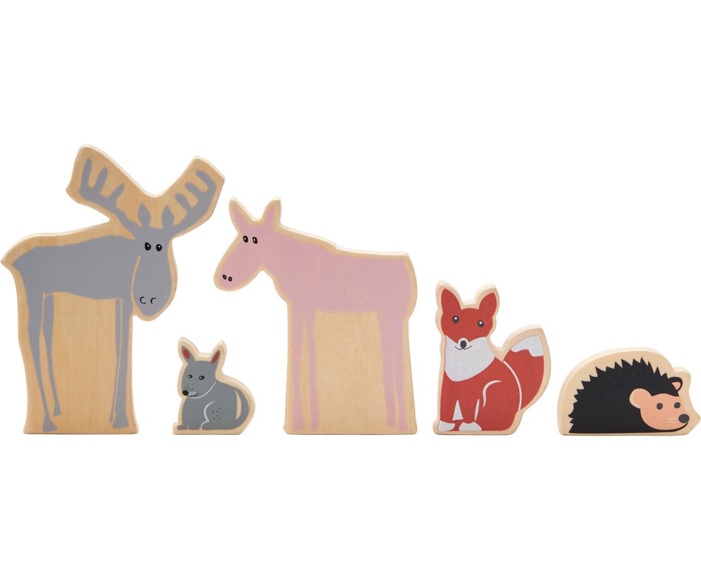 Spielzeug-Set Boni, 5-tlg., Holz, Mehrfarbig, Verschiedene Grössen
