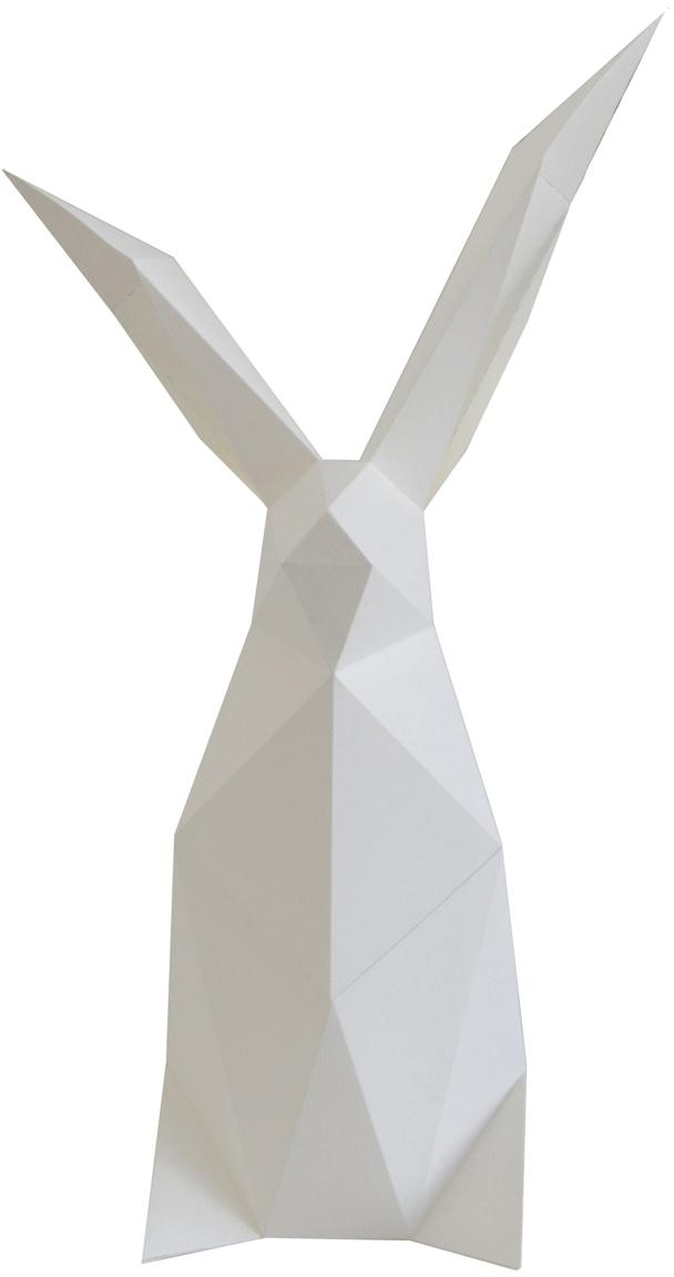 Lámpara de mesa LED Rabbit, kit de montaje, Pantalla: papel, 160 g/m², Blanco, An 18 x Al 34 cm