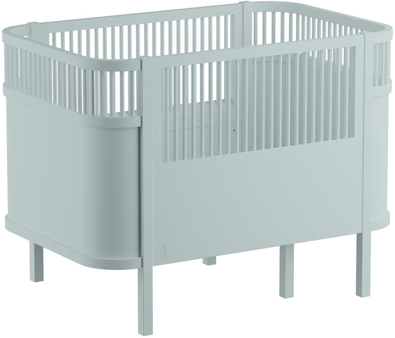 Baby-Bett Junior, Birkenholz, lackiert, Grün, 115 x 88 cm