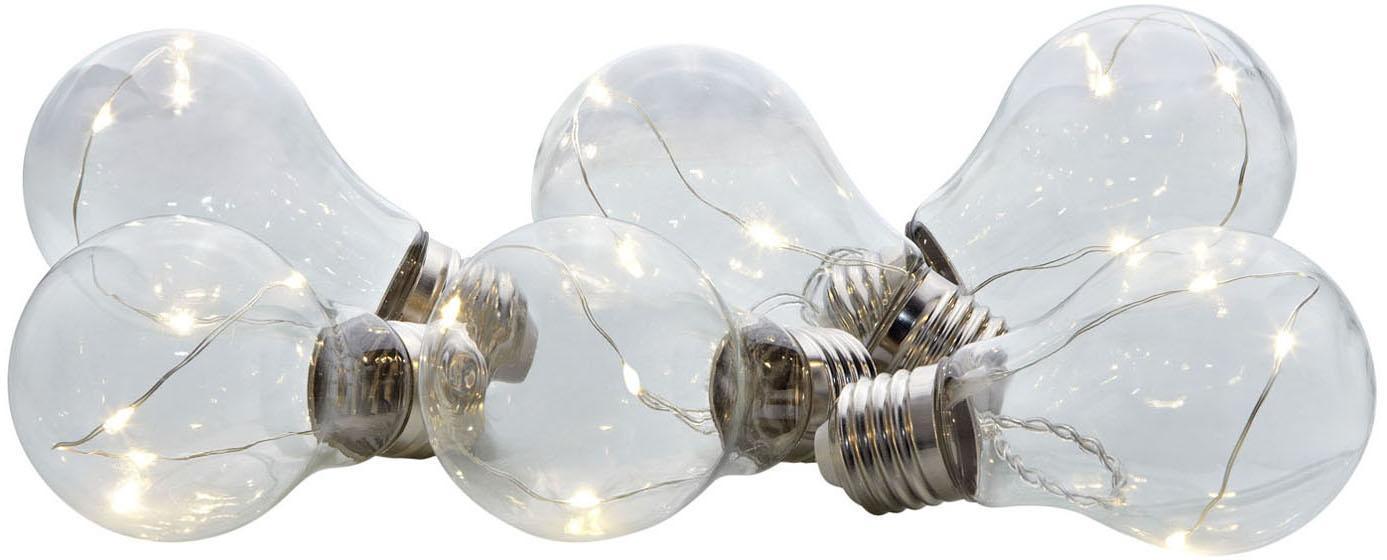 Ghirlanda a LED Glöd, Vetro, metallo, Trasparente, acciaio, Lung. 200 cm