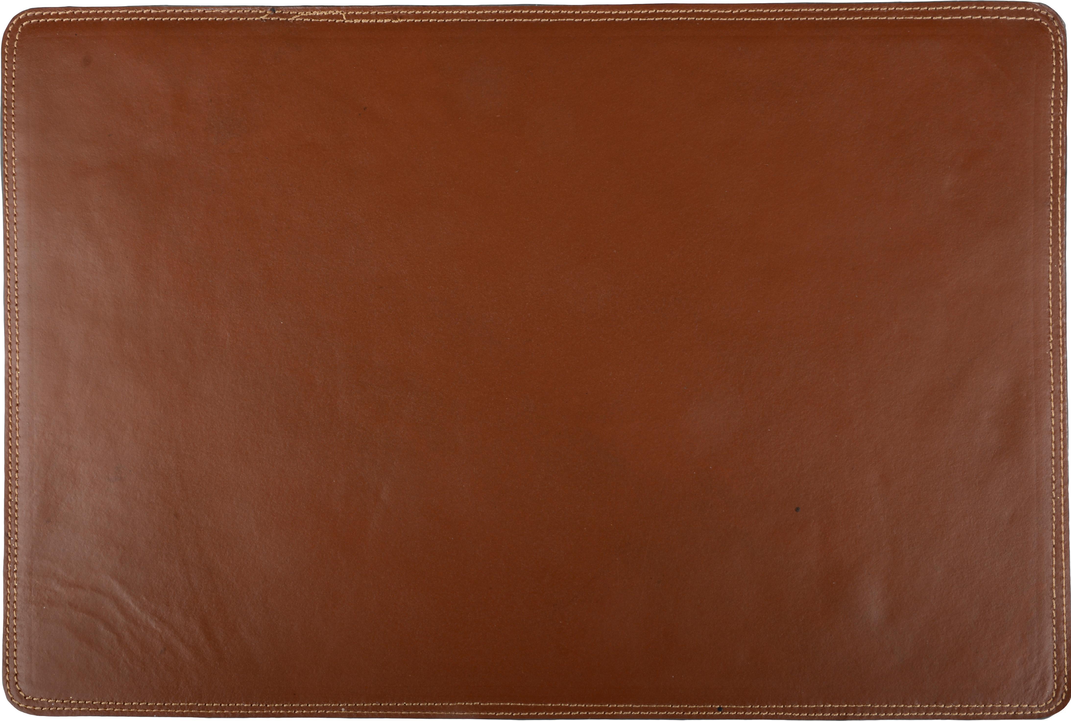 Kunstleder-Tischset Bina, Kunstleder, Cognac, 30 x 45 cm