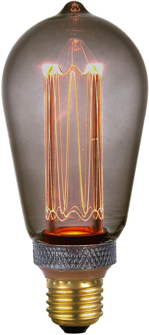Żarówka LED z funkcją przyciemniania Colors Drop (E27/5W), Szkło, metal powlekany, Szary, transparentny, Ø 6 x W 14 cm