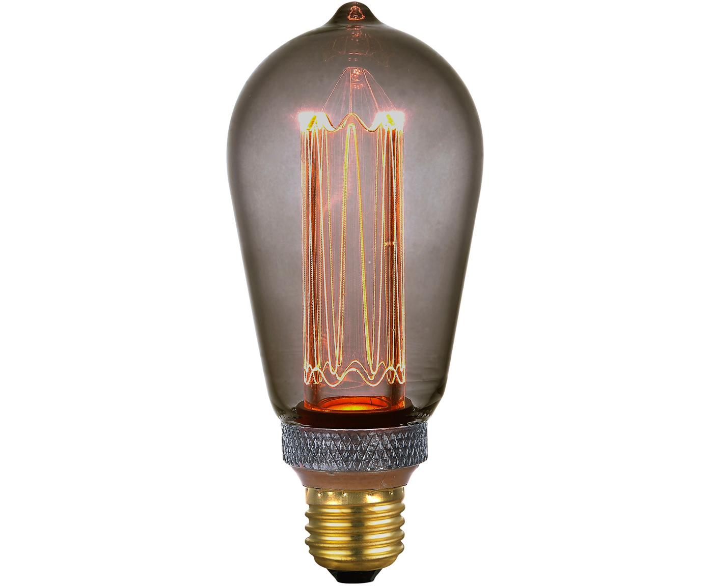 Dimbaar LED lamp Colors Drop (E27 / 5W), Glas, gecoat metaal, Grijs, transparant, Ø 6 x H 14 cm