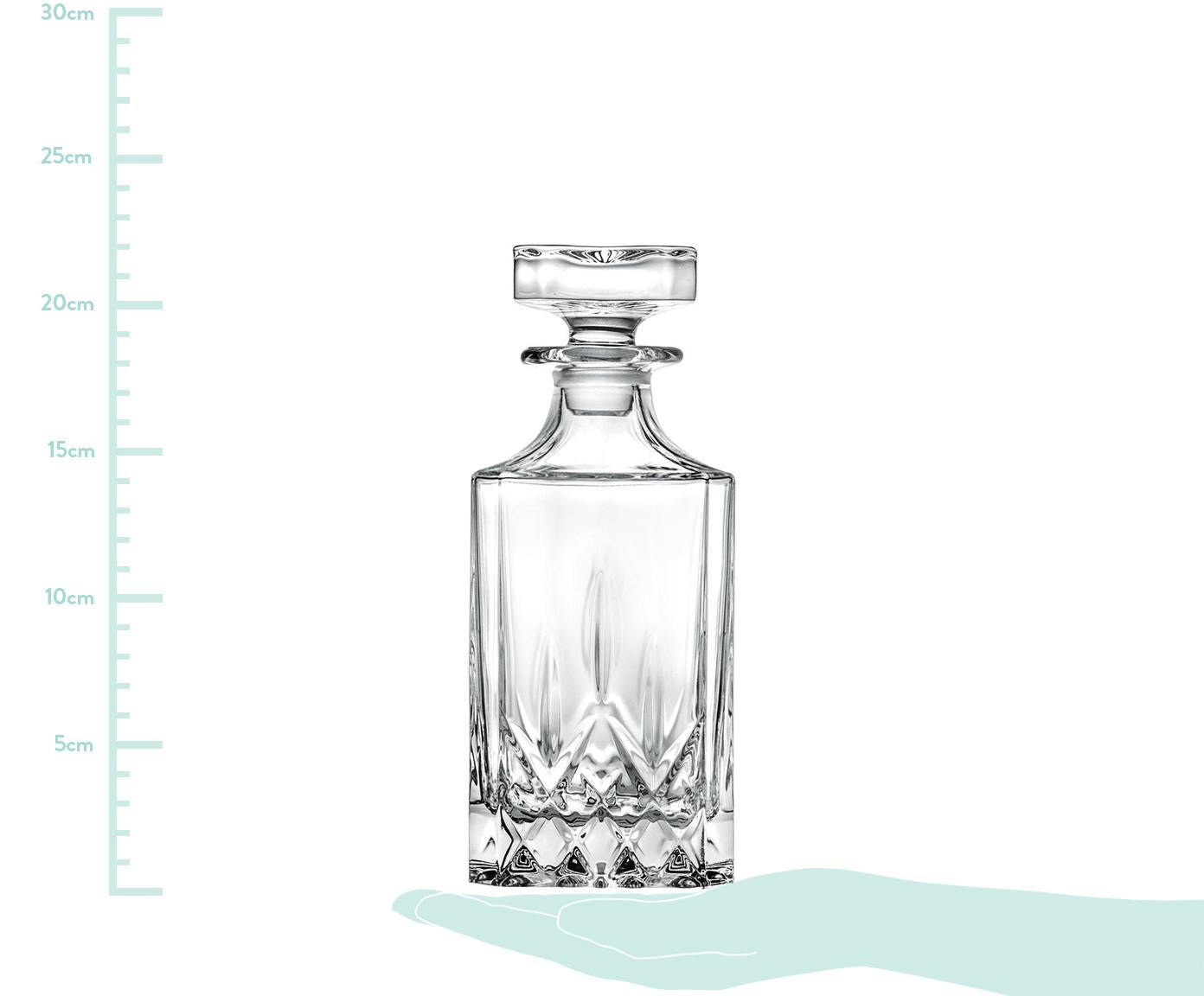 Kristall-Dekanter Opera mit Reliefmuster, Kristallglas, Transparent, H 22 cm