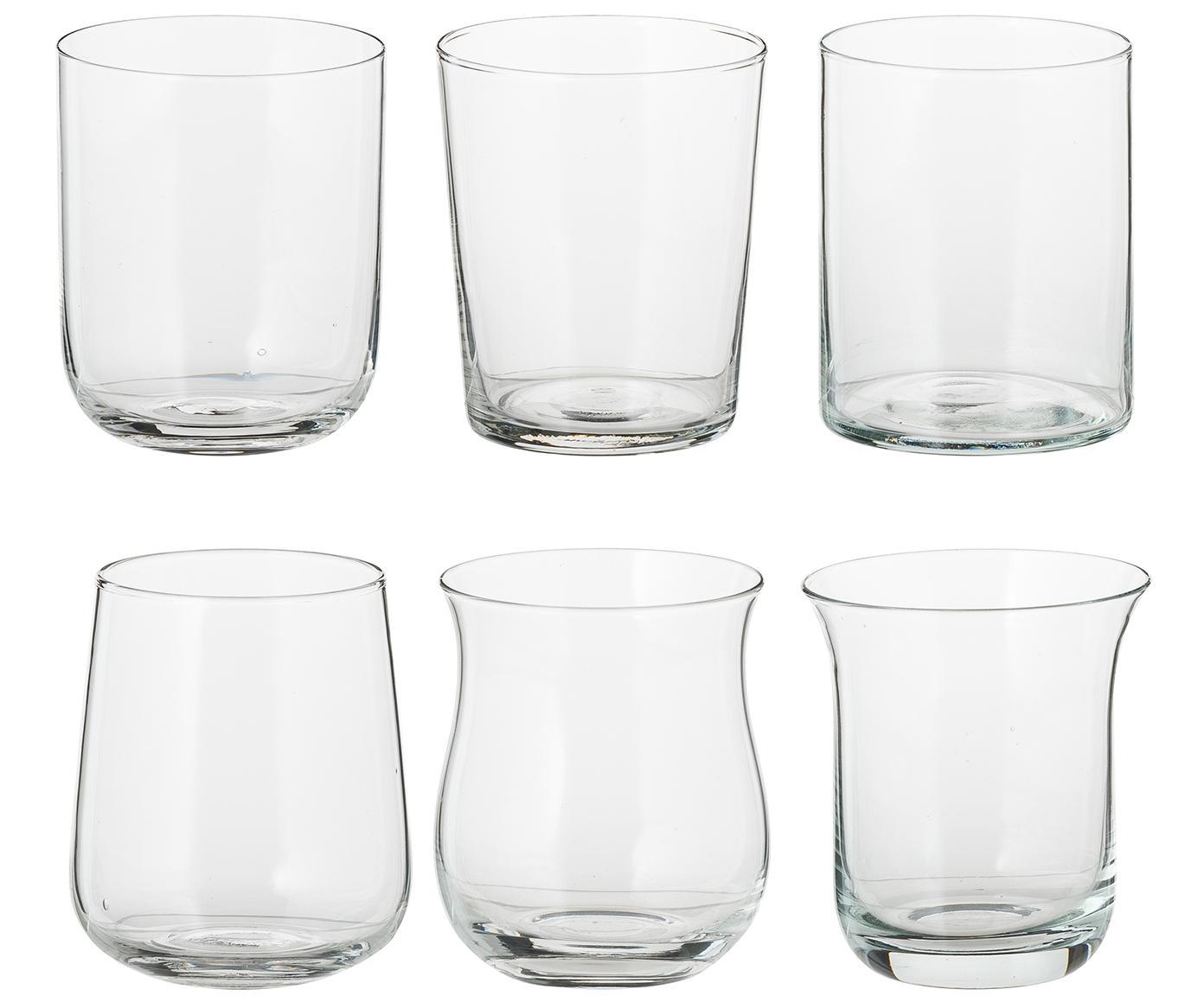 Vasos de vidrio soplado Desigual, 6uds., Vidrio, Transparente, Al 10 cm