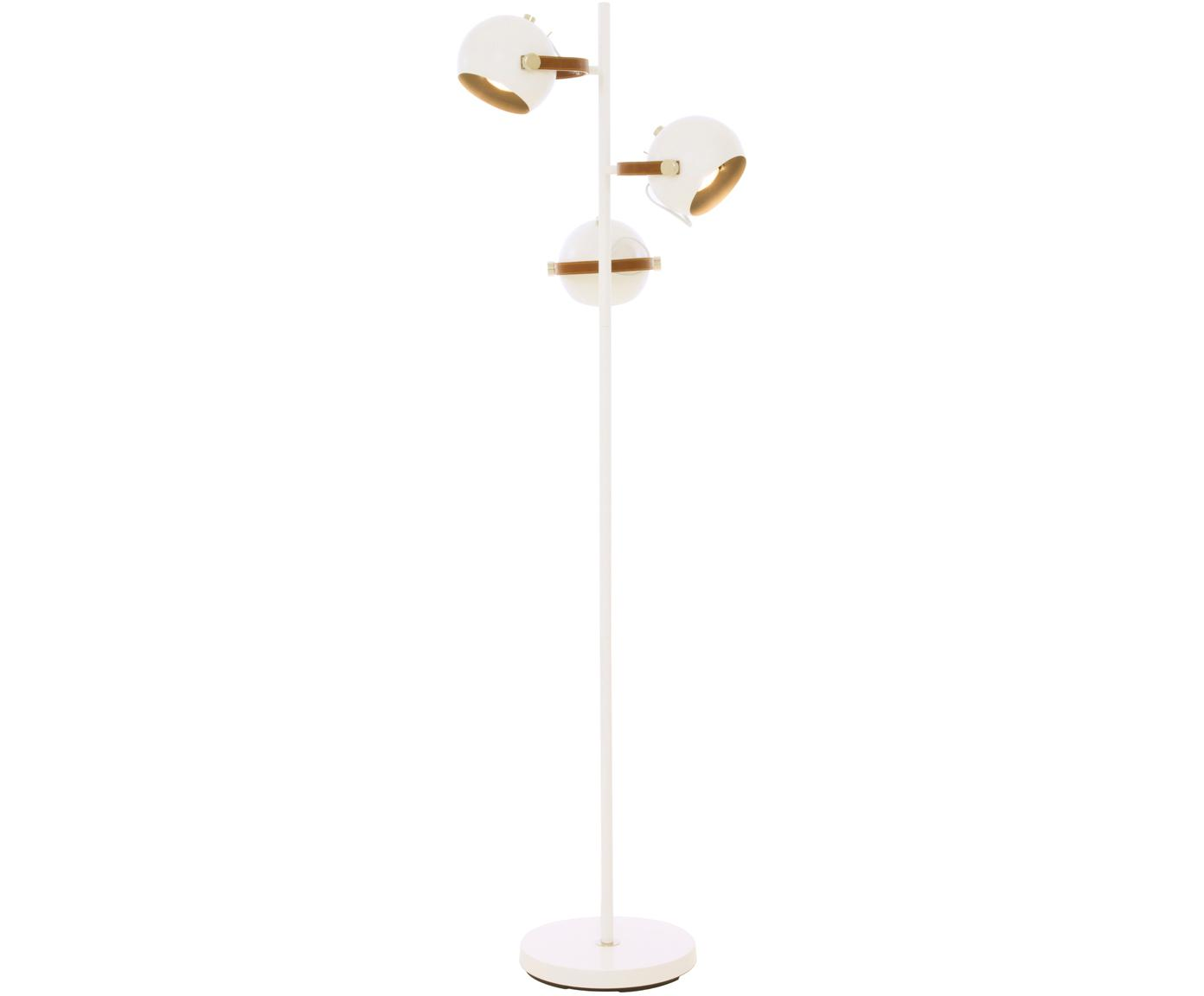 Vloerlamp Bow, Wit, bruin, 48 x 152 cm
