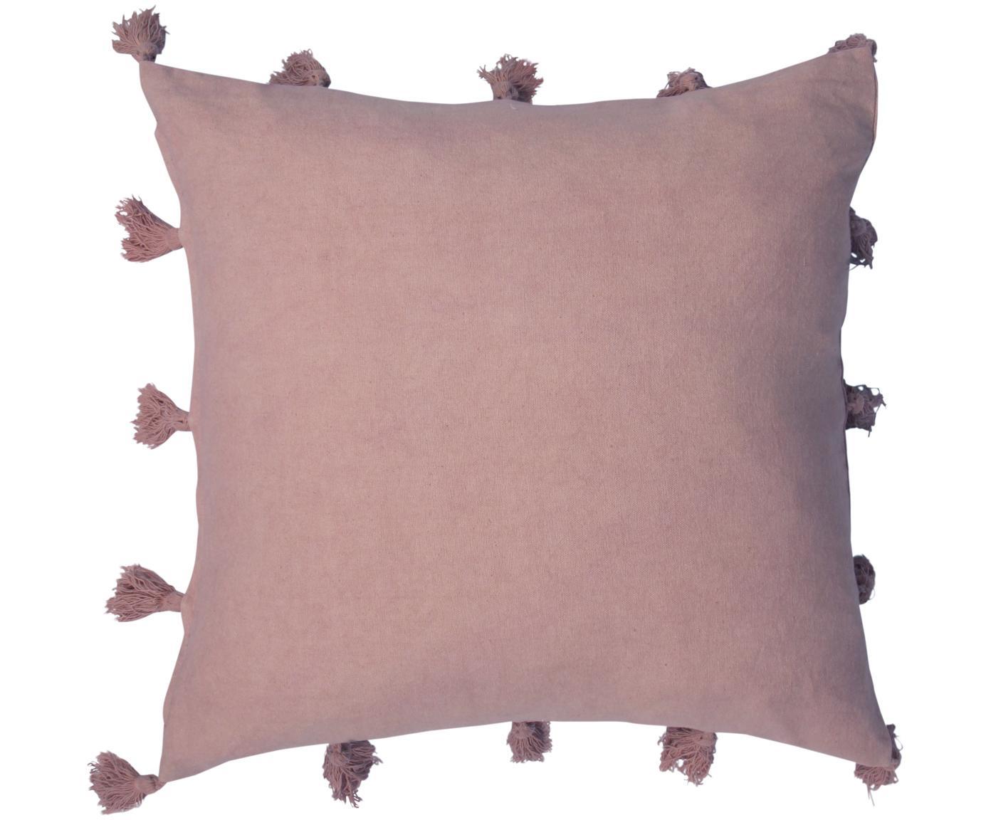 Kissenhülle Bonita mit Quasten, Bezug: 100% Baumwolle, Terrakotta, 45 x 45 cm