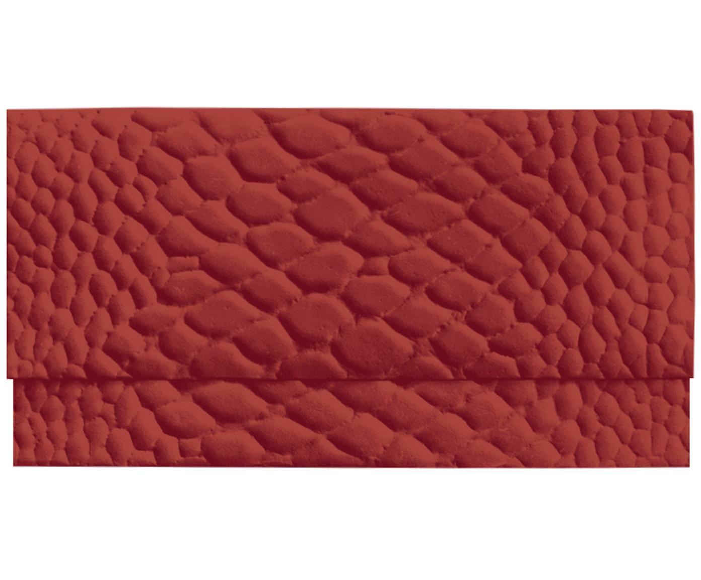 Umschlag Snake, Papier, Rot, 23 x 12 cm