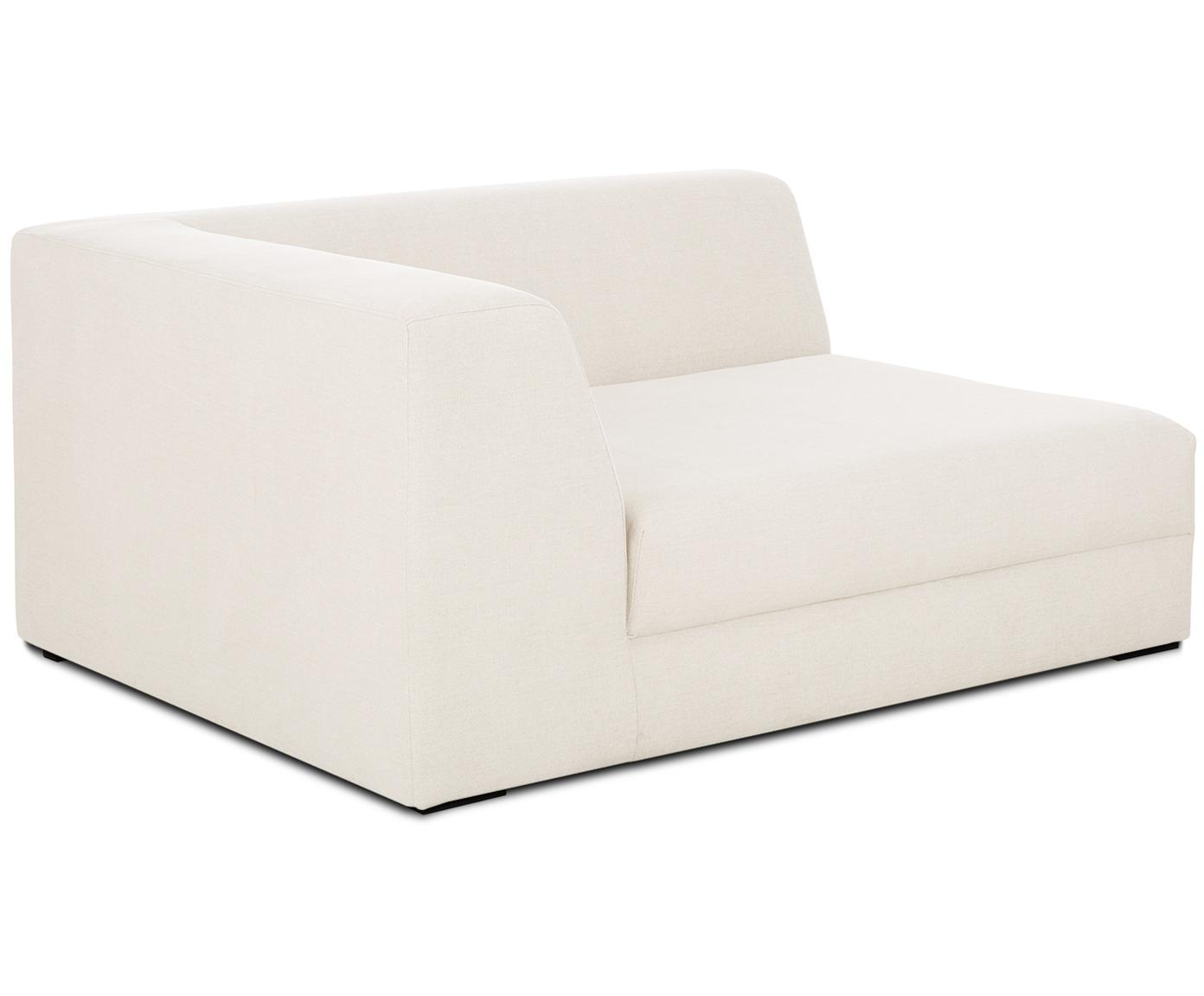 Chaise longue angolare modulare Grant, Rivestimento: cotone 20.000 cicli di sf, Struttura: legno di abete, Piedini: legno massello di faggio , Tessuto beige, Larg. 133 x Prof. 106 cm