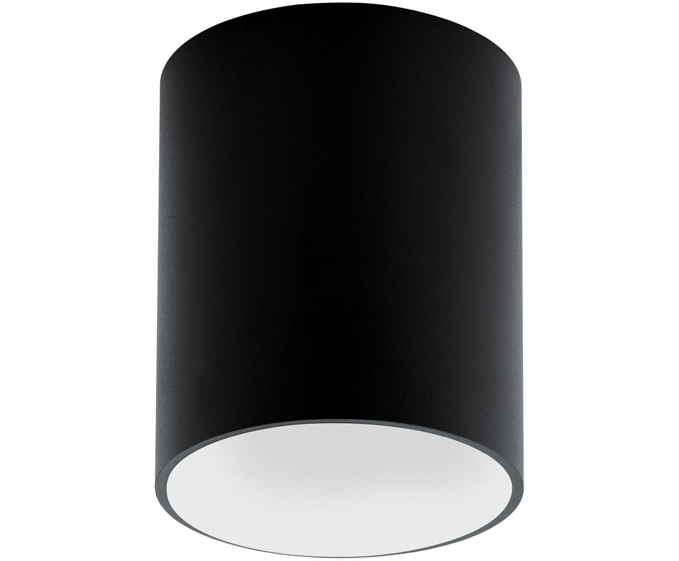 Lampa spot LED Marty, Metal malowany proszkowo, Czarny, biały, ∅ 10 x W 12 cm