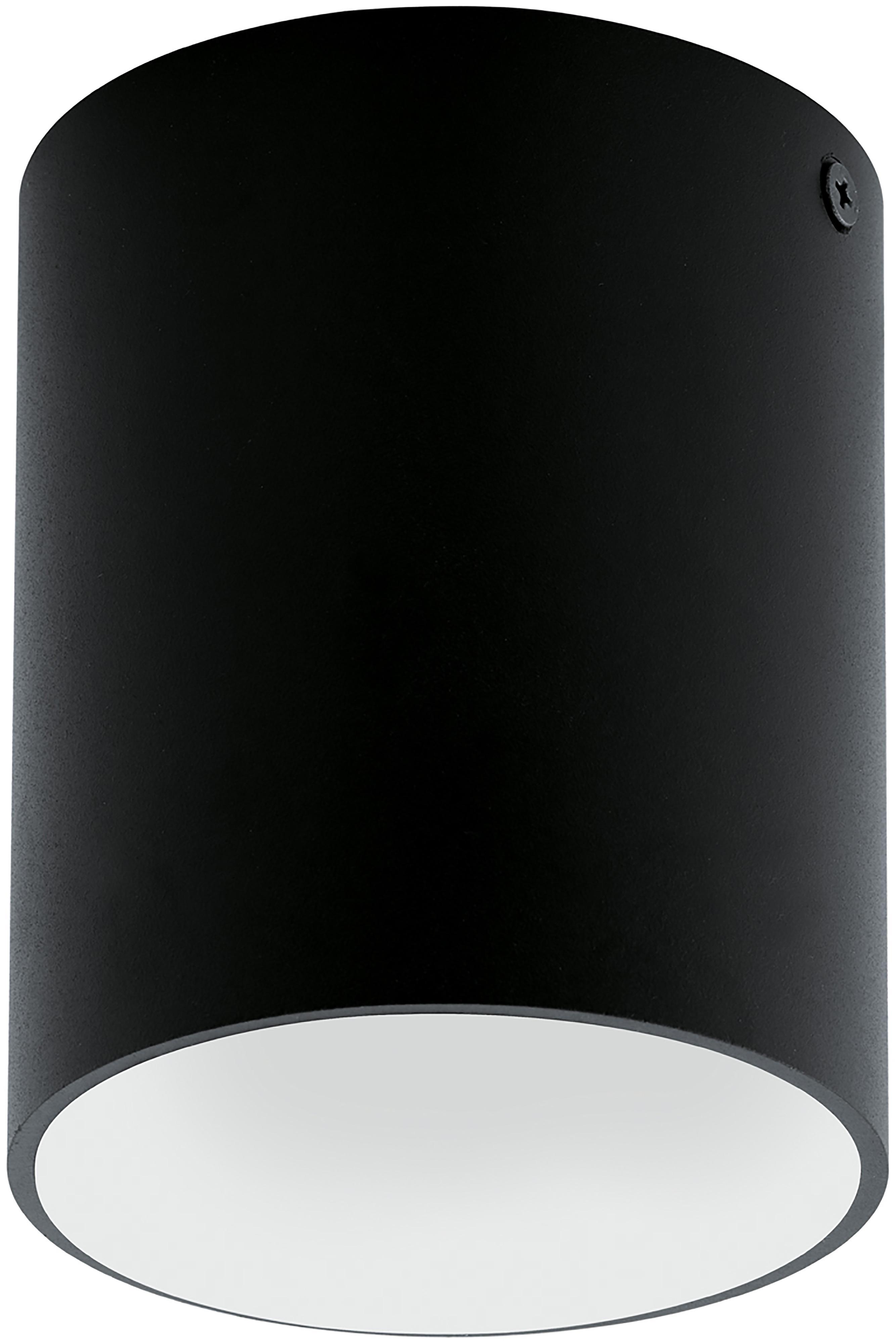 Foco LED Marty, Metal con pintura en polvo, Negro, blanco, Ø 10 x Al 12 cm