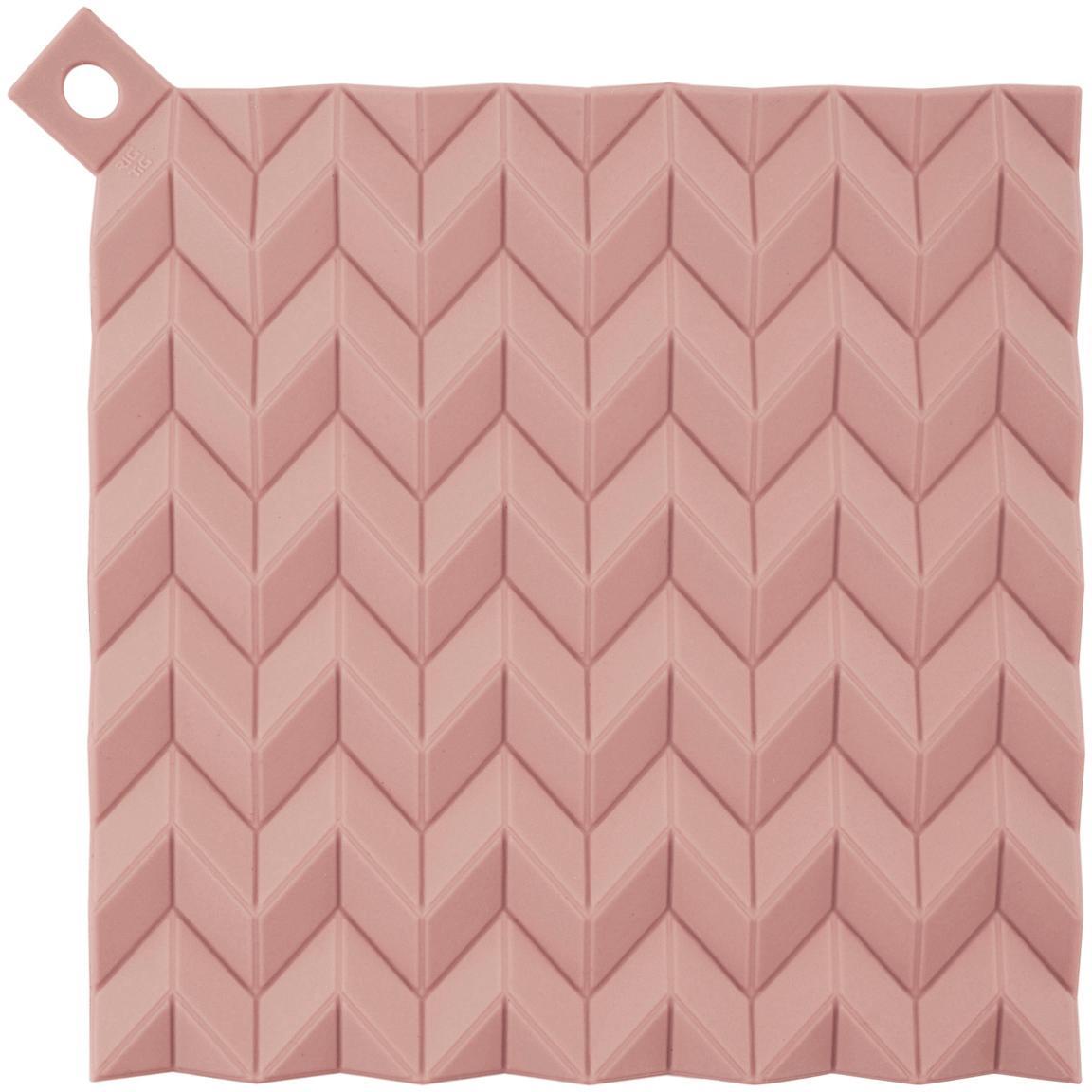 Pannenlappen Hold On, 2 stuks, Siliconen, Roze, 21 x 21 cm