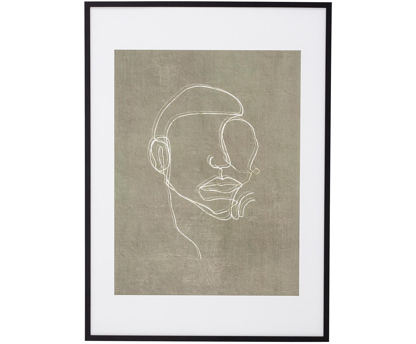 Stampa digitale incorniciata Espen, Cornice: legno, Immagine: carta, Nero, greige, bianco, Larg. 52 x Alt. 72 cm
