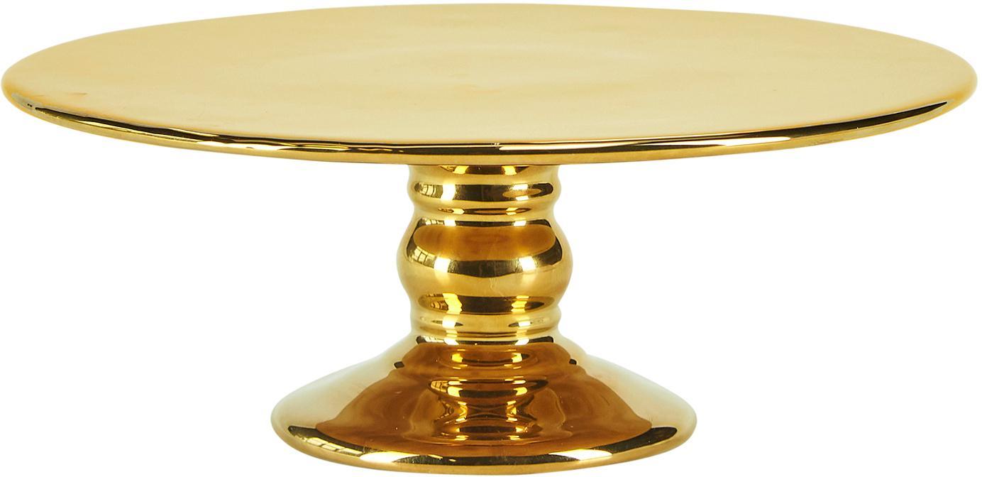 Tortenplatte Tarta, Keramik, Goldfarben, glänzend, Ø 26 x H 10 cm