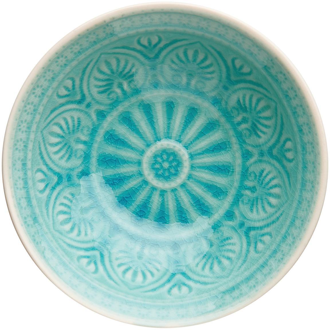 Cuencos artesanales Sumatra, Gres, Turquesa, Ø 14 cm