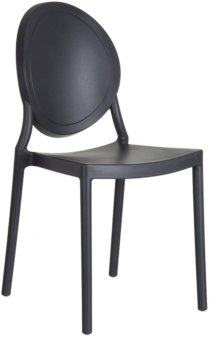 Silla de plástico Binster, Polipropileno, Negro, An 41 x Al 87 cm