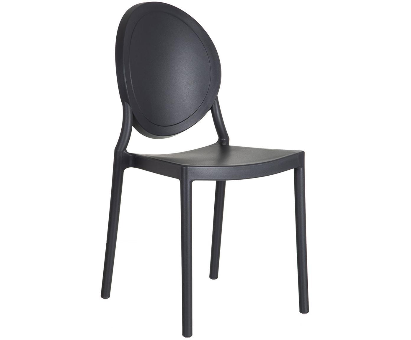 Silla Binster, Polipropileno, Negro, An 41 x Al 87 cm