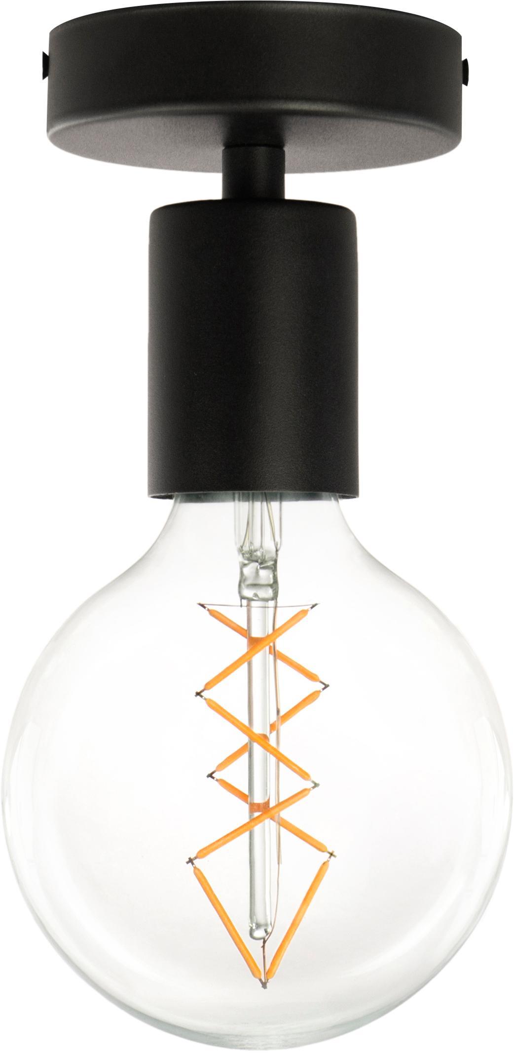 Lampada da soffitto Cero, Nero, Ø 10 x Alt. 12 cm