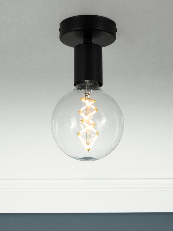 Deckenleuchte Cero ohne Leuchtmittel, Schwarz, Ø 10 x H 12 cm