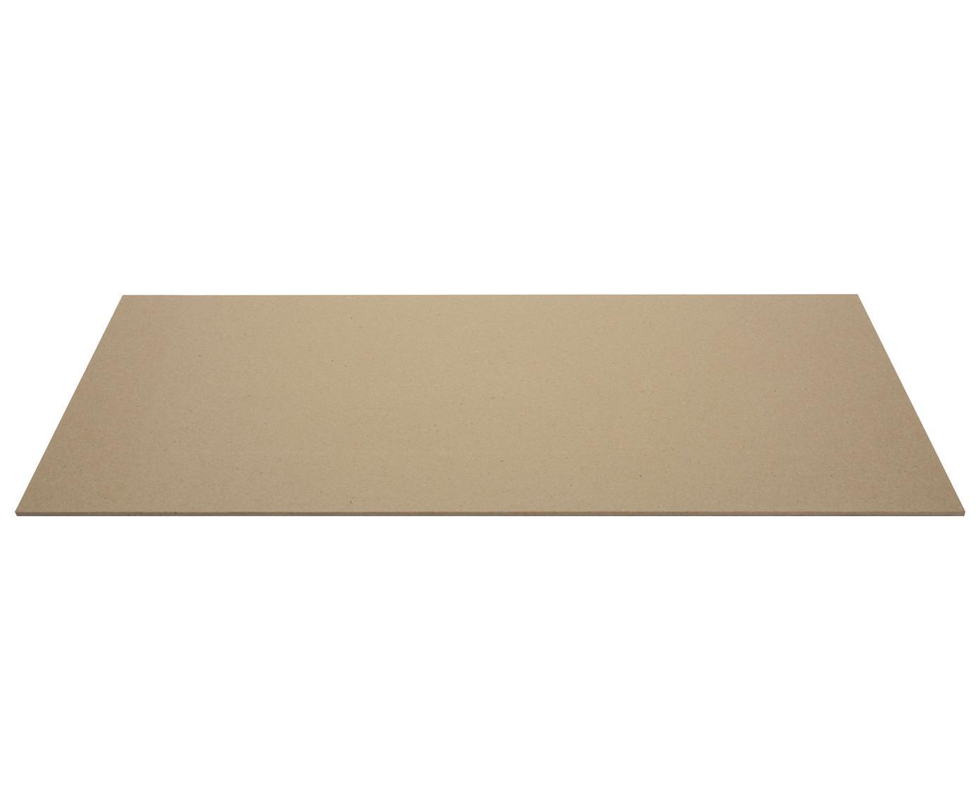Tappetino da scrivania Annie, Solido, cartone laminato, Marrone chiaro, Larg. 59 x Prof. 39 cm