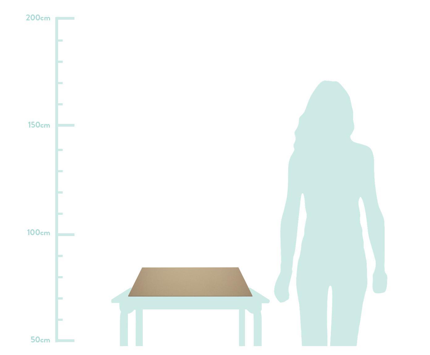 Schreibtischunterlage Annie, Fester, laminierter Karton, Hellbraun, B 59 x T 39 cm