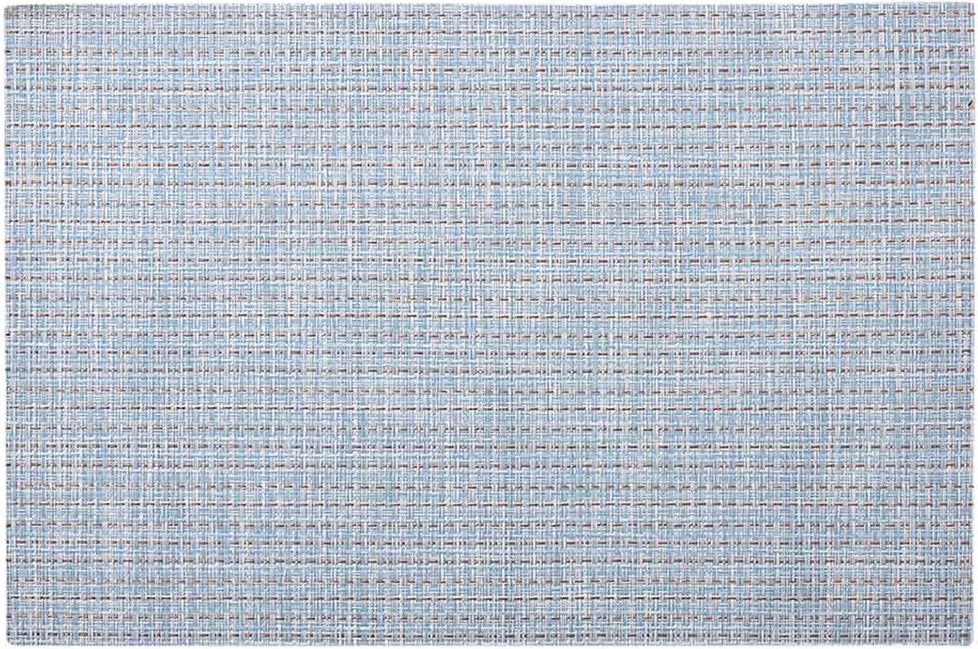 Manteles individuales Lohan, 2uds., PVC, PET, Azul claro, An 30 x L 45 cm
