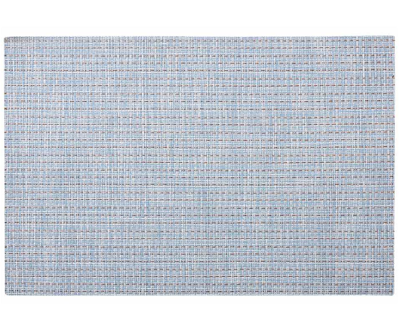 Tovaglietta americana Lohan 2 pz, PVC, PET, Azzurro, Larg. 30 x Lung. 45 cm