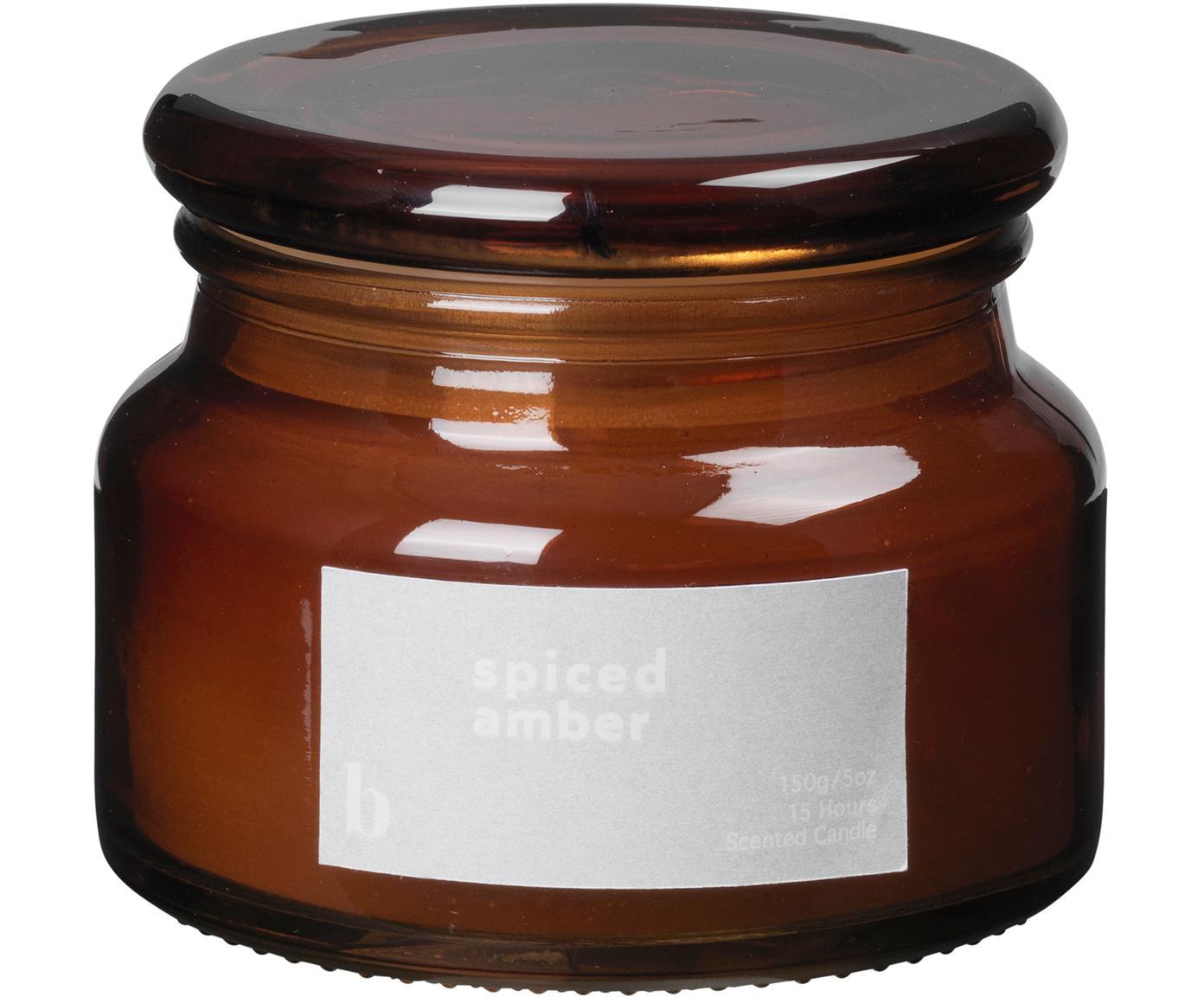 Vela perfumada Spiced Amber, Recipiente: vidrio, Marrón, Ø 10 x Al 8 cm