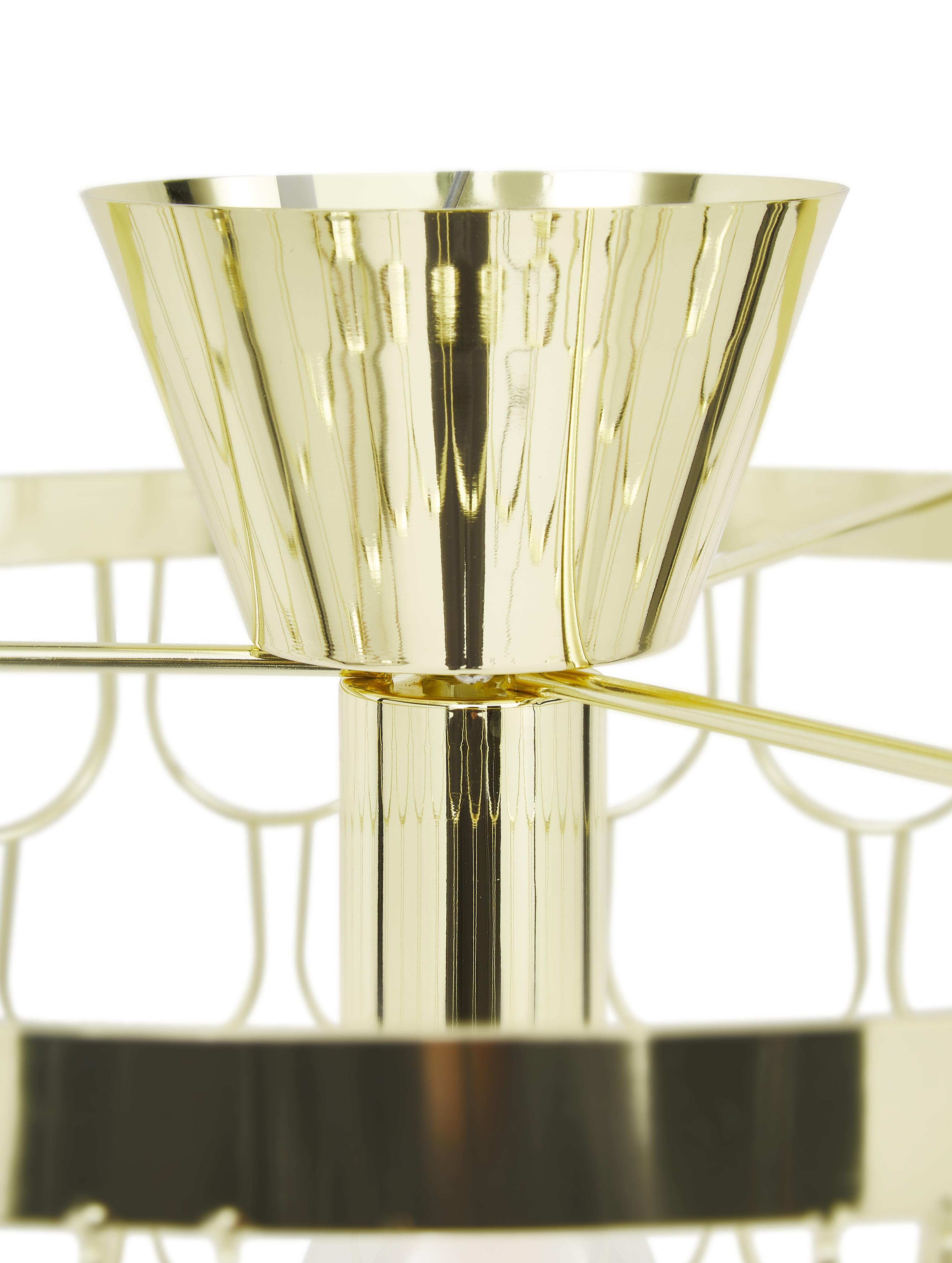 Plafonnier design dorée Gatsby, Laiton