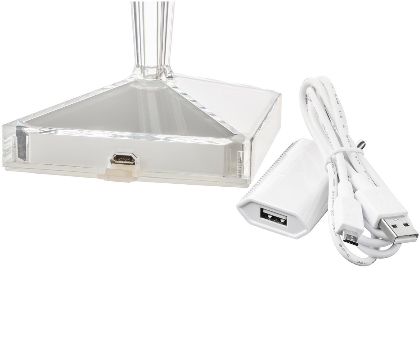 Design-LED Tischlampe Battery, Lampenschirm: Kunststoff, Transparent, Ø 12 x H 26 cm