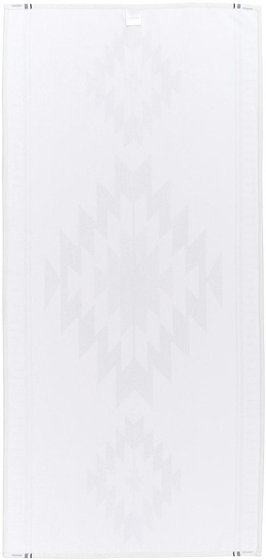 Leichtes Strandtuch Ikat im Ethno Style, 55% Polyester, 45% Baumwolle Sehr leichte Qualität, 340 g/m², Creme, Schwarz, Grau, 70 x 150 cm