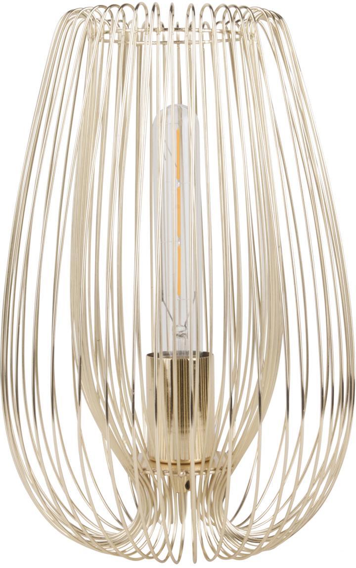 Lámpara de mesa de metal Lucid, Lámpara: metal pintado, Cable: plástico, Latón, Ø 22 x Al 33 cm