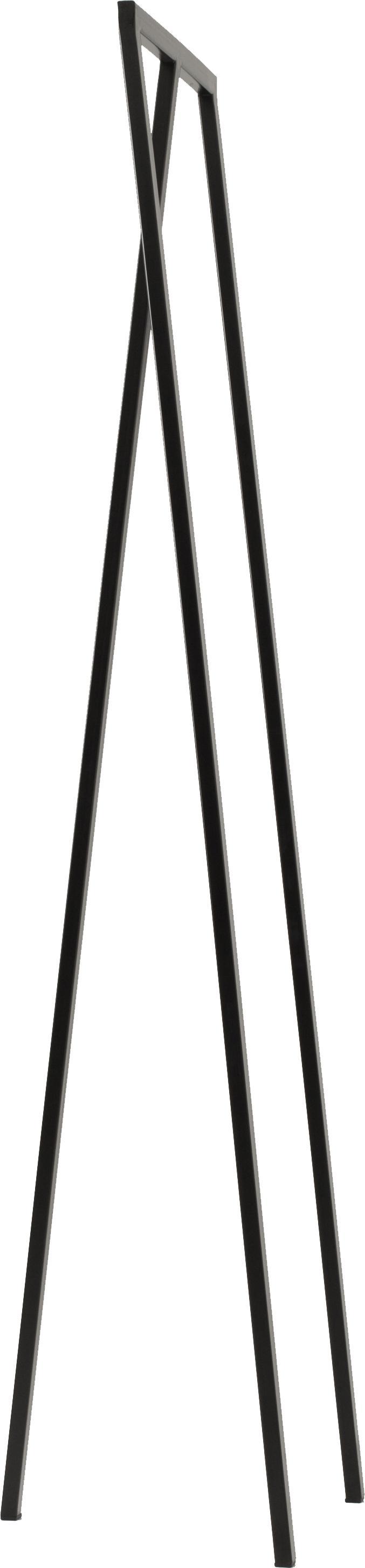 Metalen kledingstang Kaya in zwart, Gelakt metaal, Zwart, 50 x 173 cm