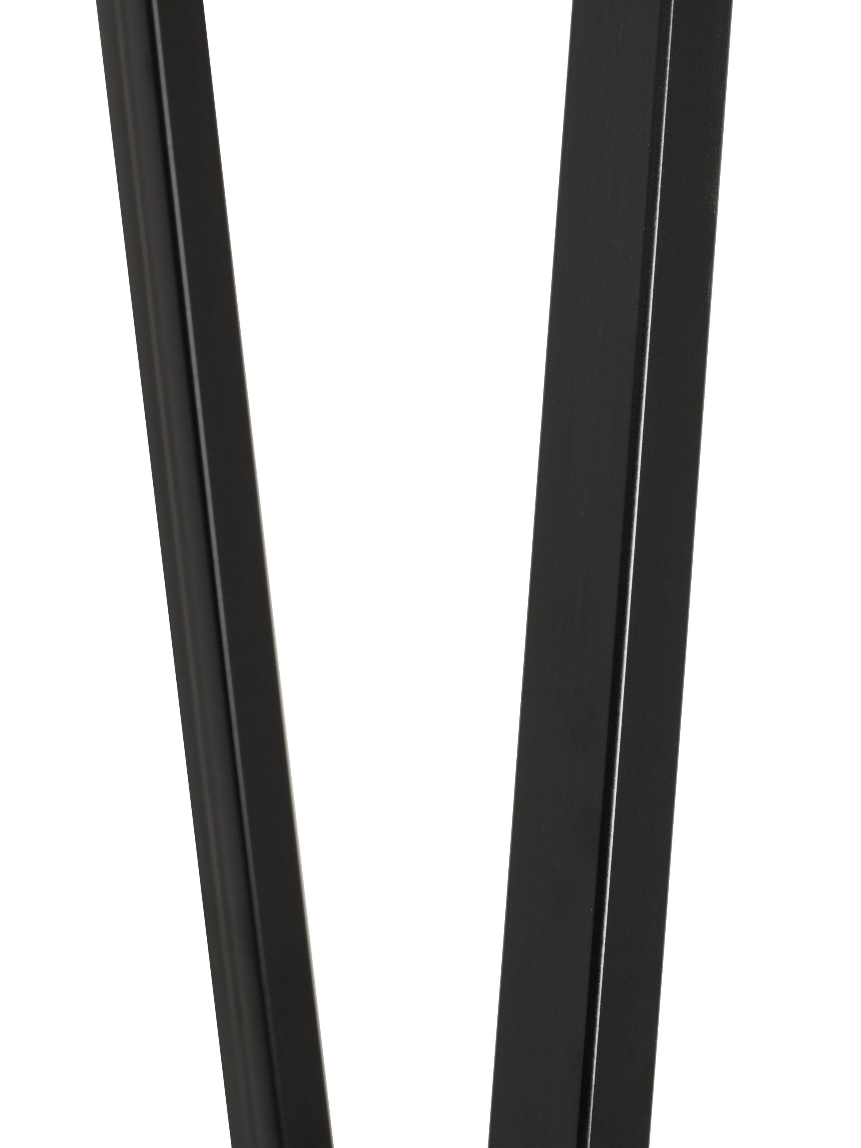 Metall-Kleiderstange Kaya in Schwarz, Metall, lackiert, Schwarz, 50 x 173 cm