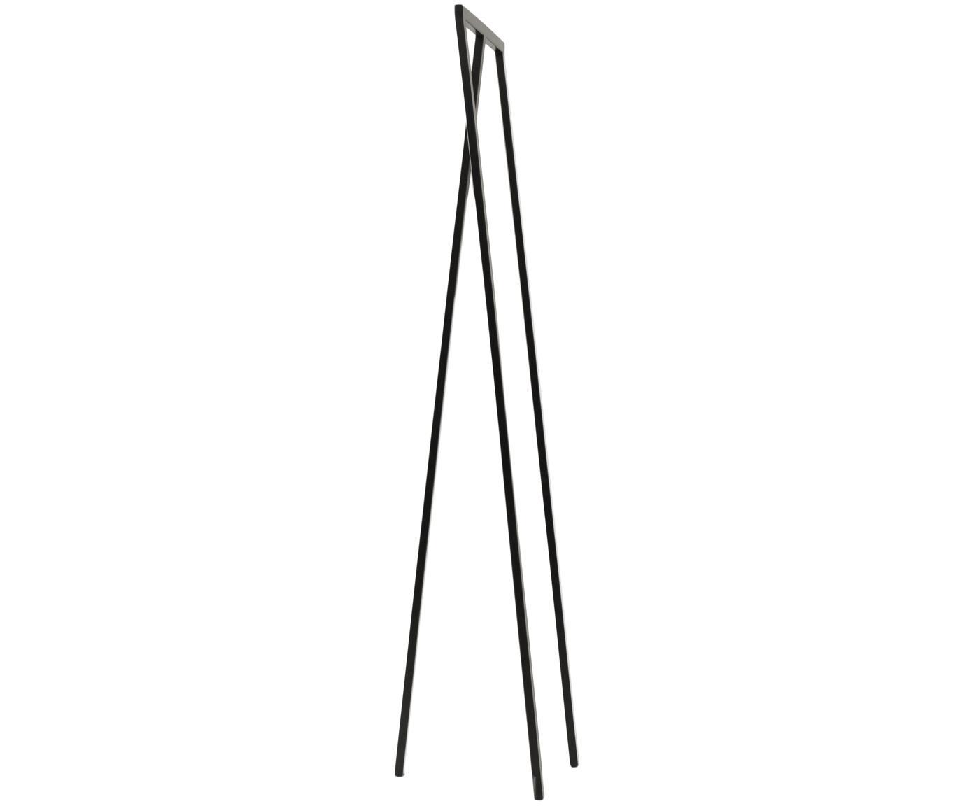 Appendiabiti in metallo Kaya, Metallo verniciato, Nero, Larg. 50 x Alt. 173 cm