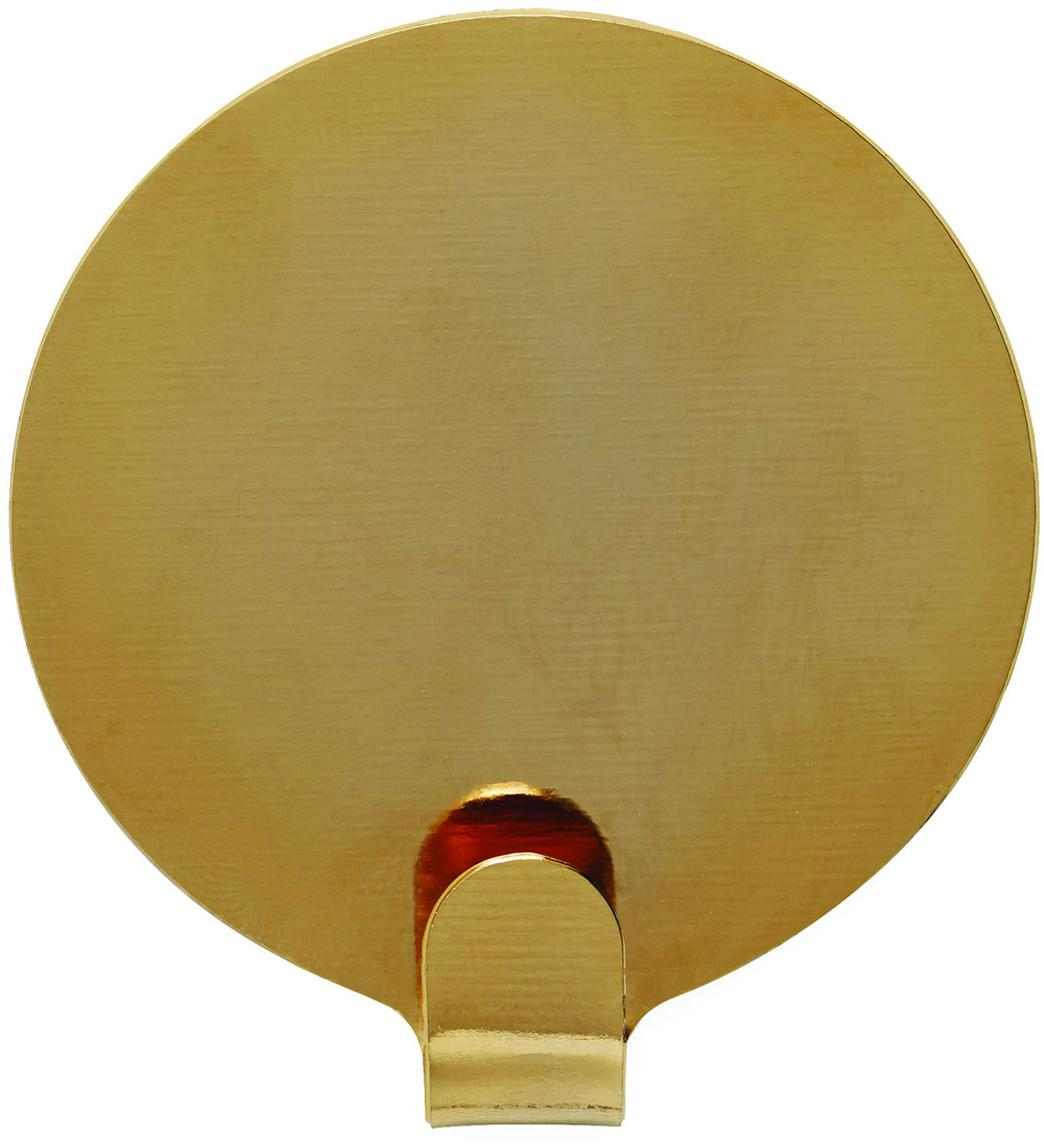 Metall-Kleiderhaken Ping, 2 Stück, Metall, lackiert, Messingfarben, Ø 5 x T 1 cm