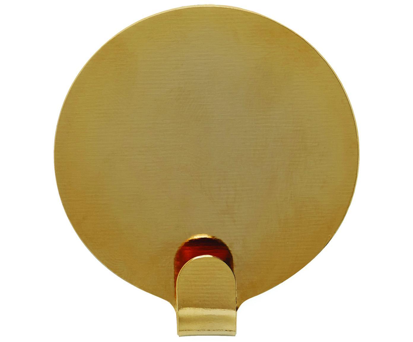Gancio da parete Ping 2 pz, Metallo verniciato, Color ottone, Ø 5 x Prof. 1 cm