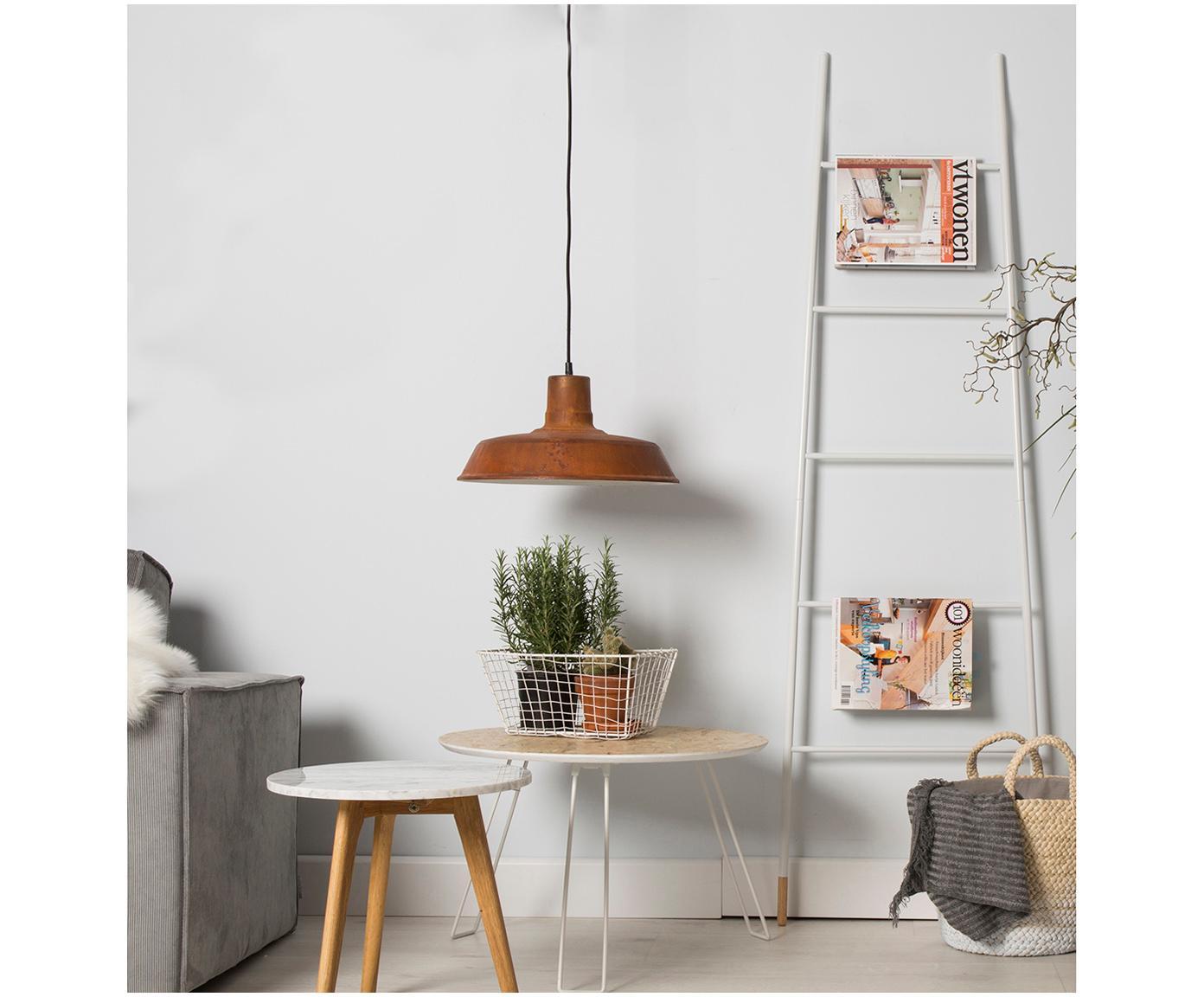 Handdoekrek Rack ladder, Poten: natuurlijk gelakt rubberh, Wit, 54 x 175 cm