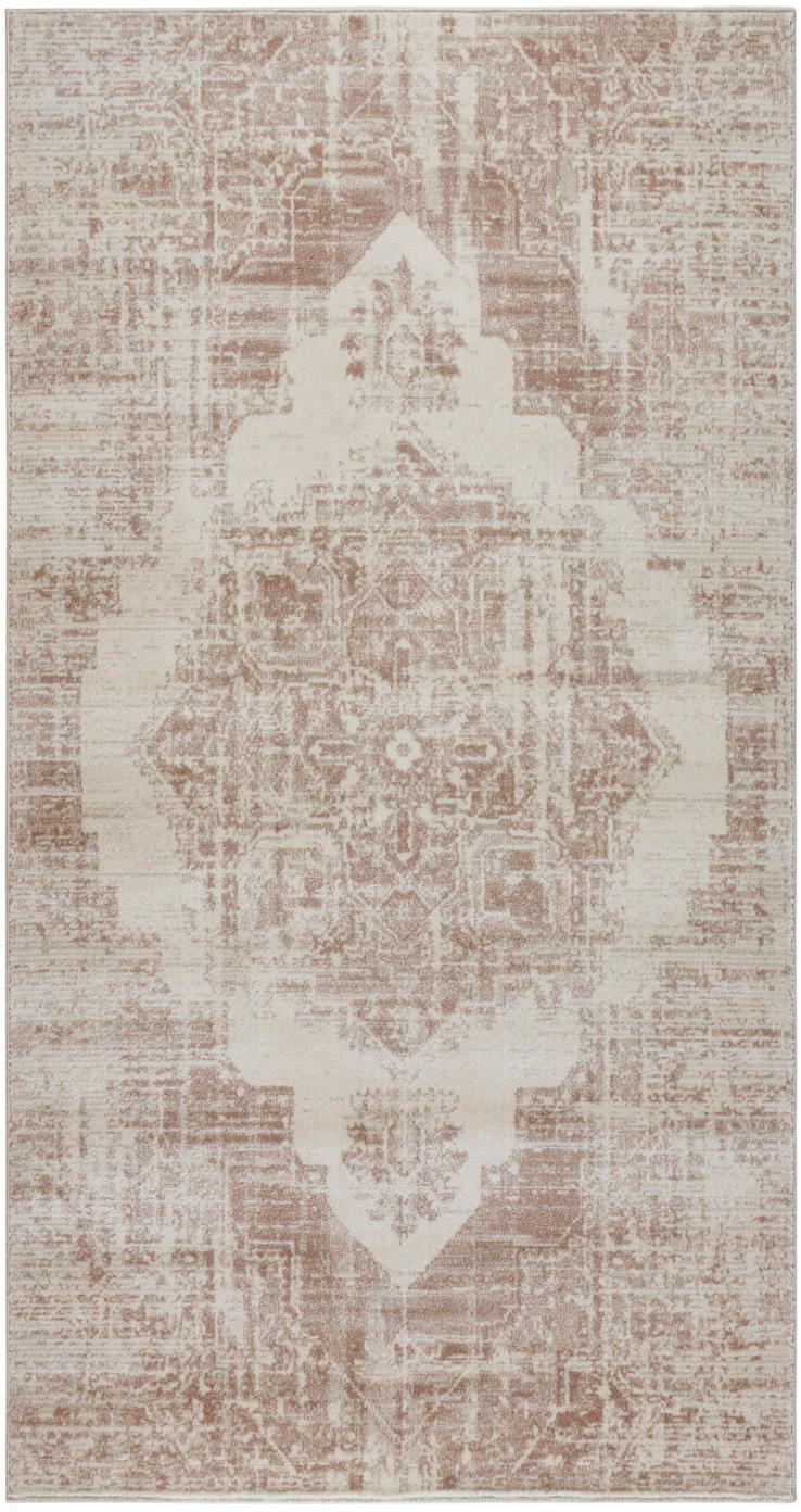 Teppich Garonne im Vintage Style, Flor: 100% Polypropylen, Kupferbraun, Beige, B 80 x L 150 cm (Grösse XS)