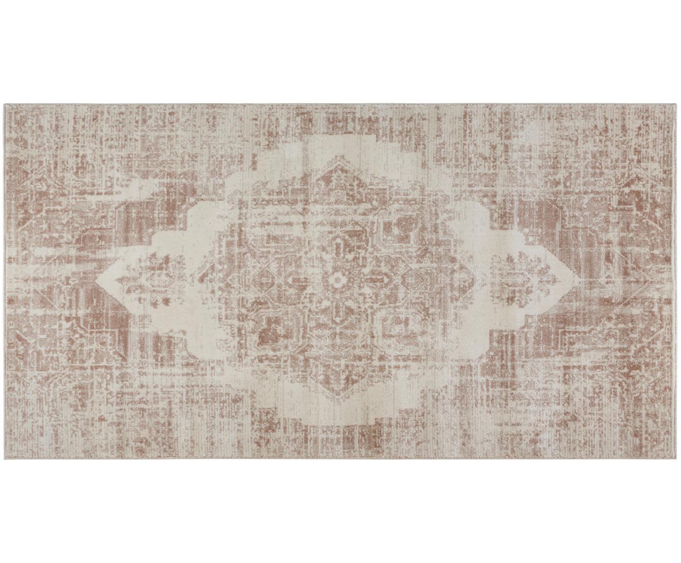 Tappeto vintage  Garonne, Retro: juta, Marrone rame, beige, Larg. 80 x Lung. 150 cm (taglia XS)