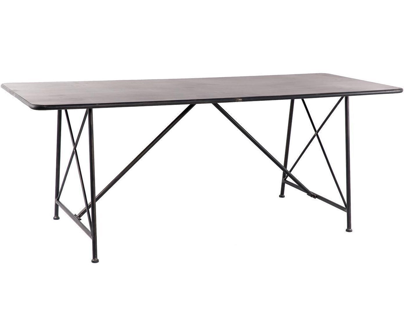 Mesa de comedor Louise, Negro, An 200 x F 80 cm