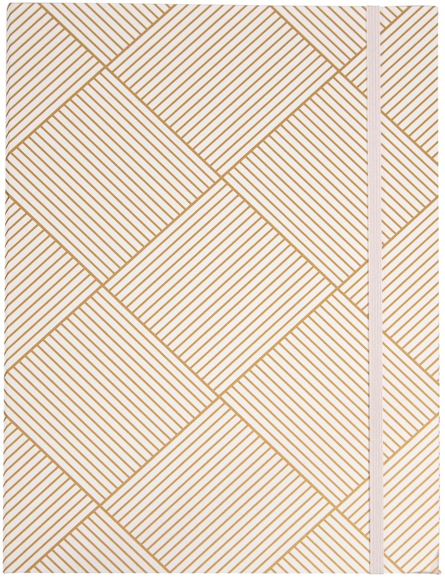 Raccoglitore Paulina, Dorato, bianco, Larg. 23 x Alt. 32 cm