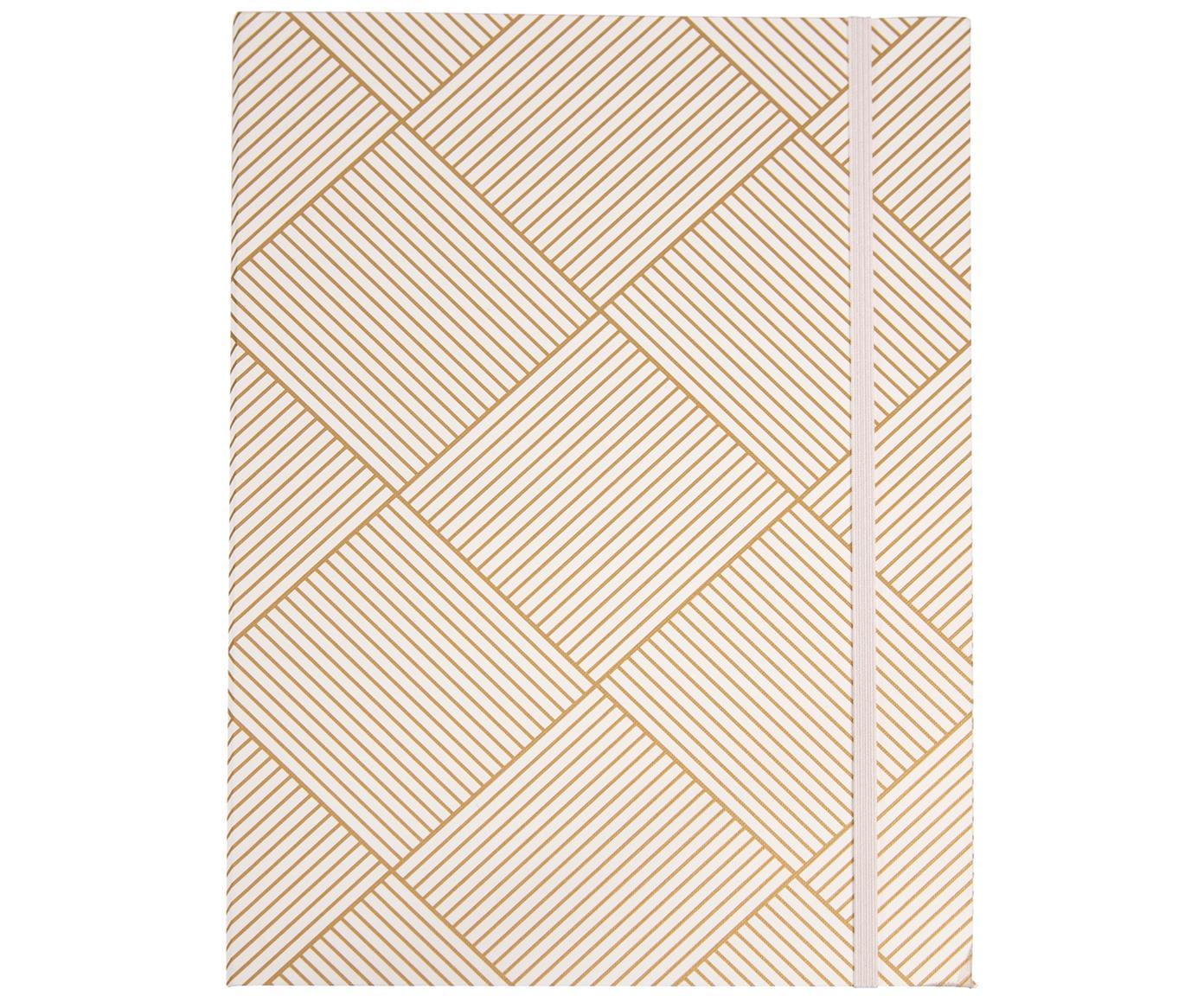 Caperta Paulina, Goma: caucho, Dorado, blanco, An 23 x Al 32 cm