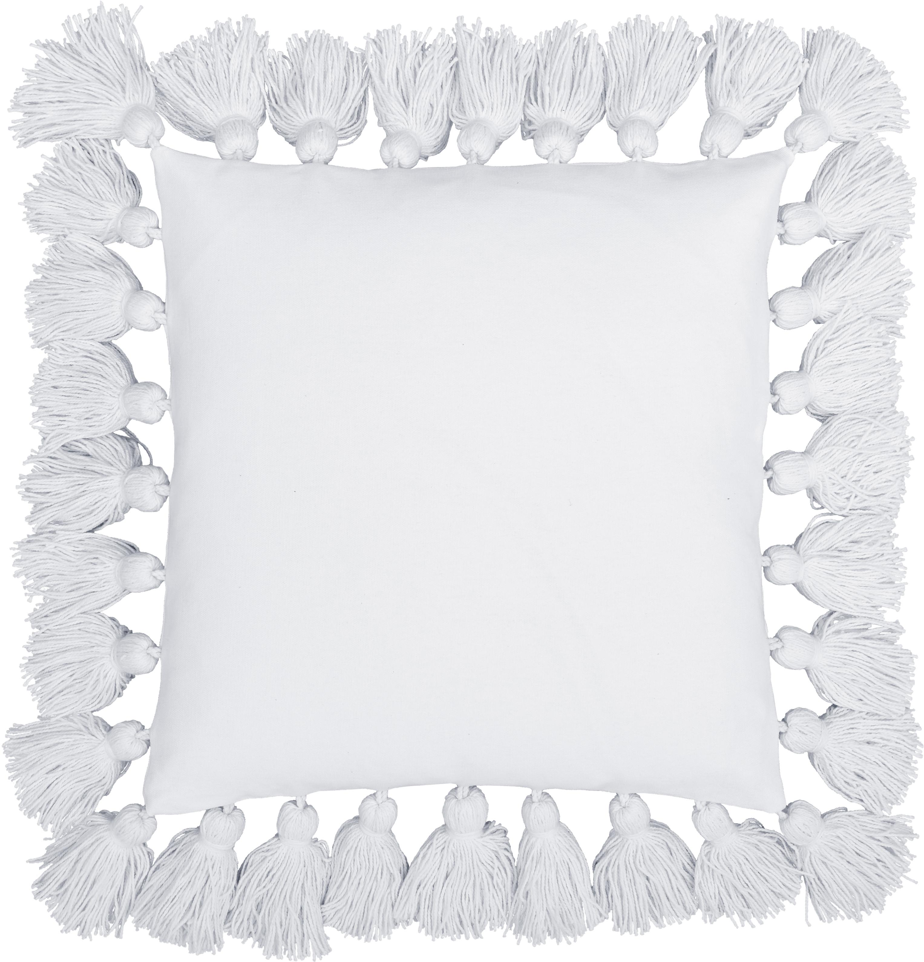 Federa arredo con nappe Shylo, Cotone, Crema, Larg. 40 x Lung. 40 cm