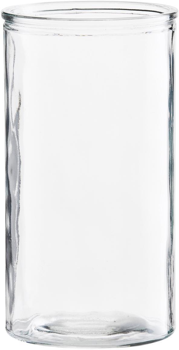 Kleine Glas-Vase Cylinder, Glas, Transparent, Ø 13 x H 24 cm