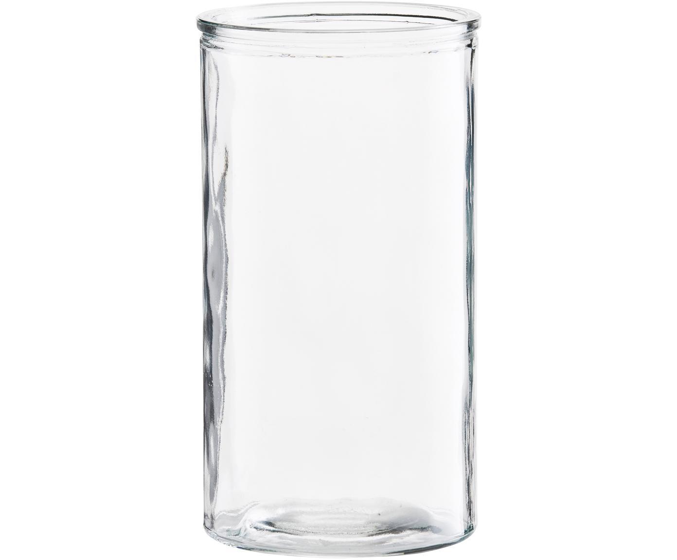 Jarrón de vidrio Cylinder, Vidrio, Transparente, Ø 13 x Al 24 cm