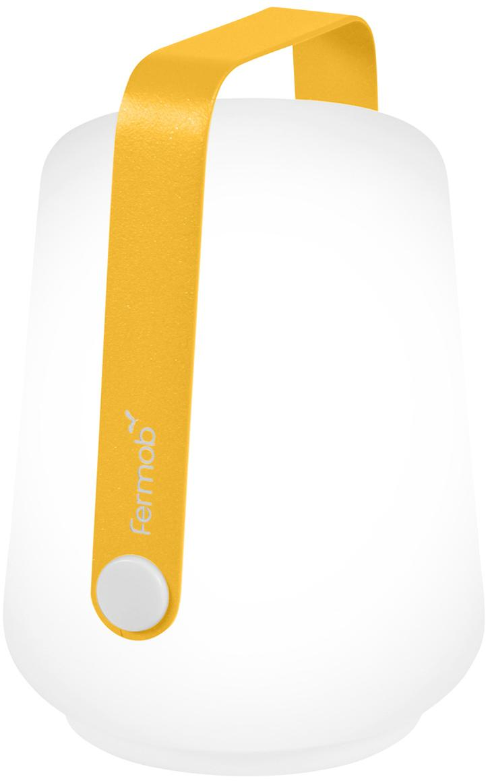 Lampada portatile a LED da esterno Balad 3 pz, Paralume: polietilene, Manico: alluminio verniciato, Giallo, Ø 10 x Alt. 13 cm