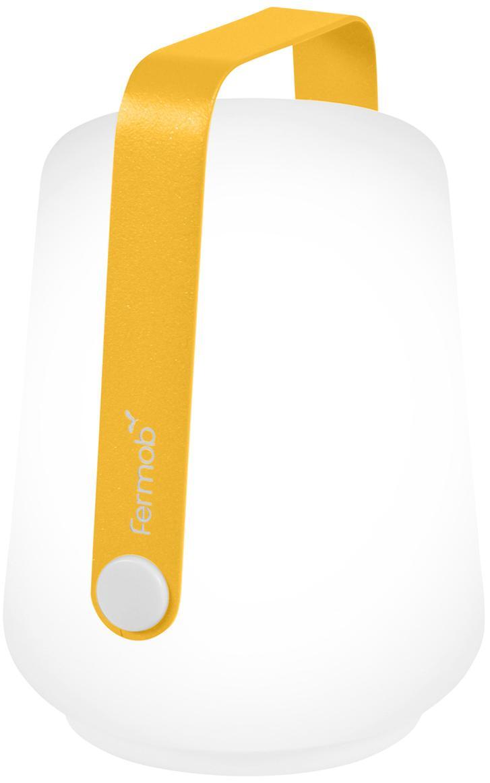 Mobile LED Aussenleuchten Balad, 3 Stück, Lampenschirm: Polyethylen, Griff: Aluminium, lackiert, Gelb, Ø 10 x H 13 cm