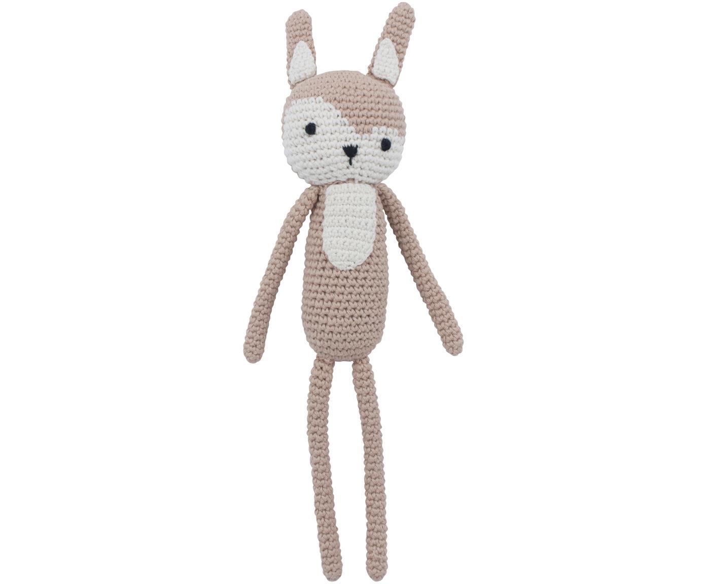 Kuscheltier Siggy, Bezug: Baumwolle, Beige, Rosa, Schwarz, 4 x 28 cm