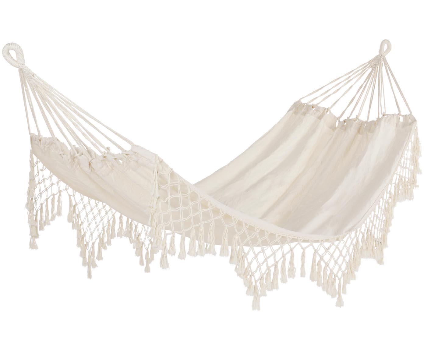 Hamaca Kauana, 65%algodón, 35%poliéster, Crema, An 100 x L 200 cm